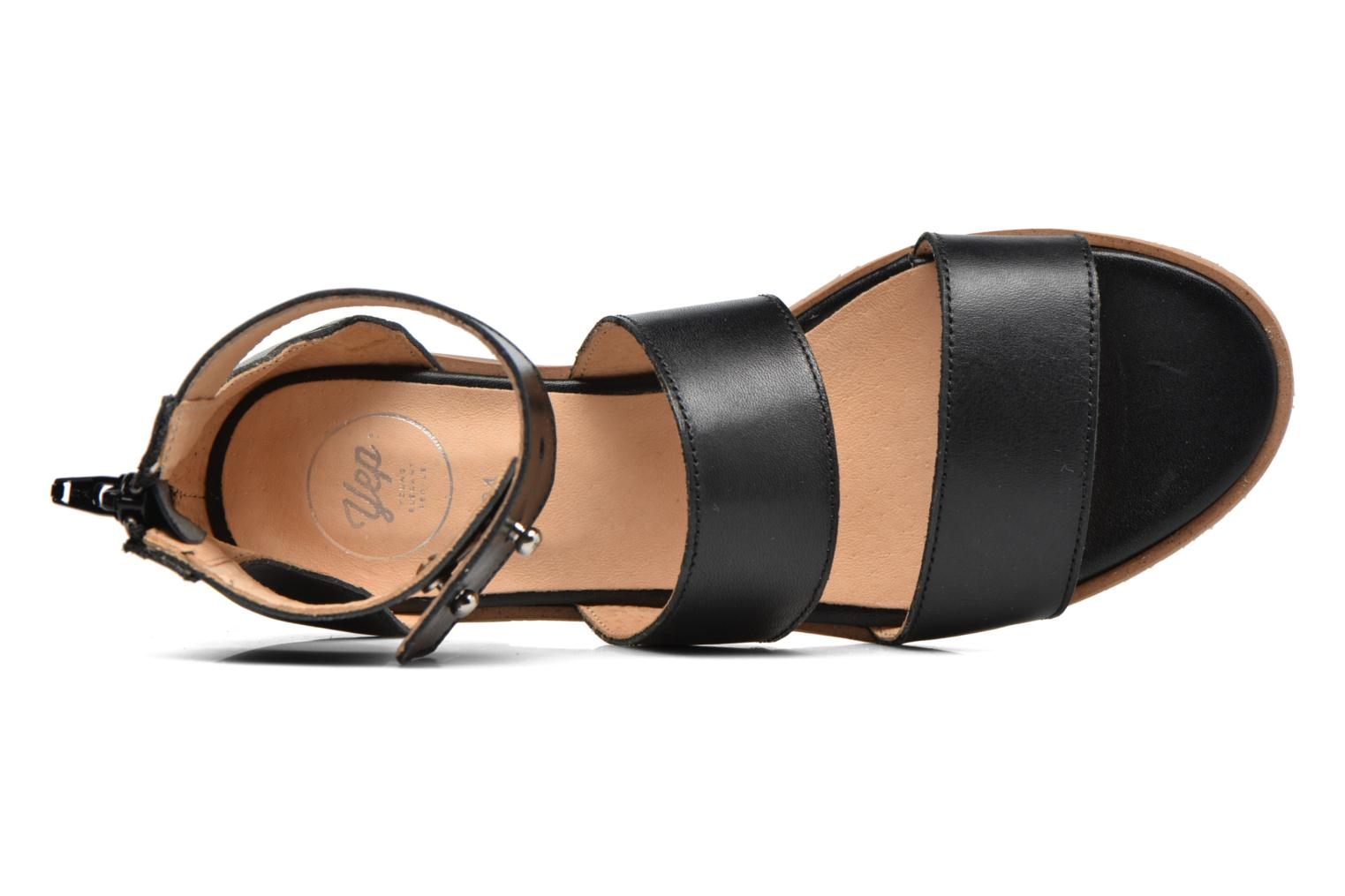 Sandalen Yep Martine Zwart links