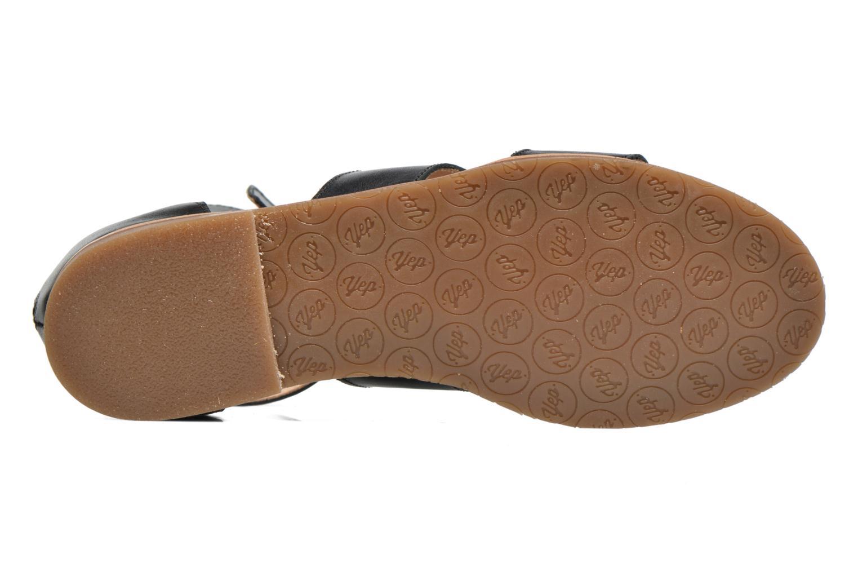 Sandales et nu-pieds Yep Martine Noir vue haut