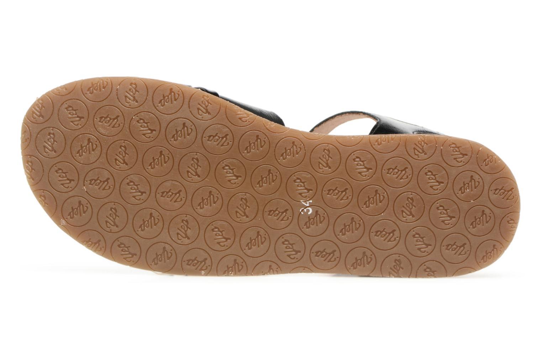 Sandales et nu-pieds Yep Mael Noir vue haut