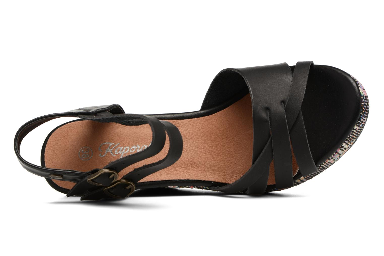 Sandales et nu-pieds Kaporal Rosana Noir vue gauche