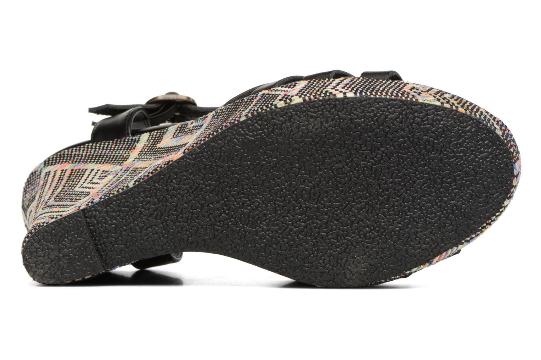 Sandales et nu-pieds Kaporal Rosana Noir vue haut
