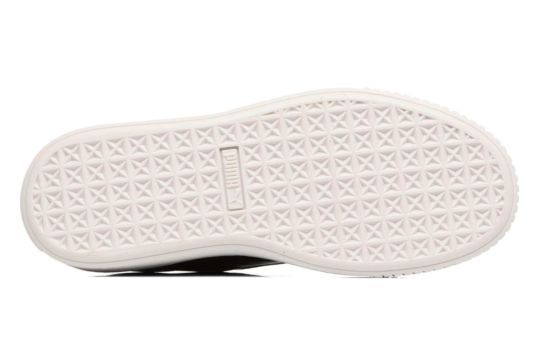 Wns Basket Platform Patent Peacoat-White