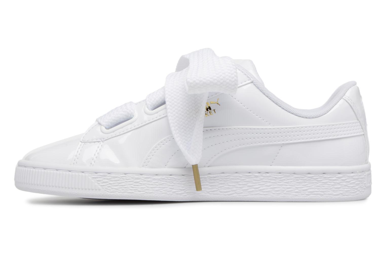 Sneaker Puma Basket Heart Patent Wn's weiß ansicht von vorne