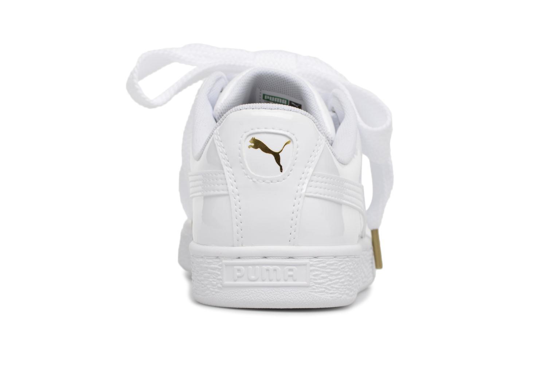 Sneaker Puma Basket Heart Patent Wn's weiß ansicht von rechts