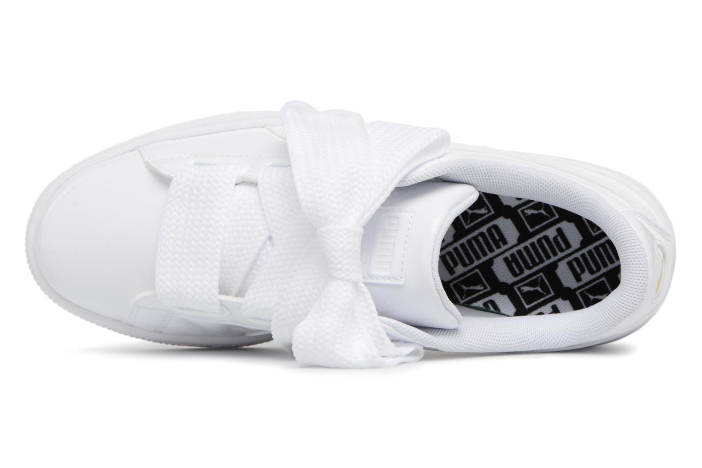 Sneaker Puma Basket Heart Patent Wn's weiß ansicht von links