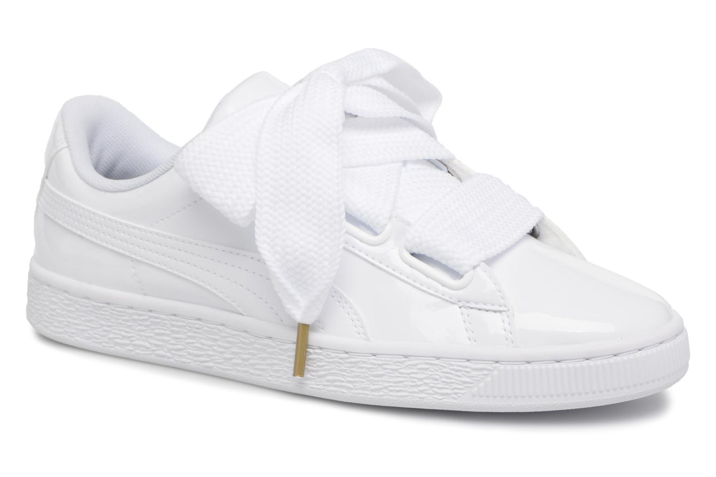 Sneaker Puma Basket Heart Patent Wn's weiß detaillierte ansicht/modell