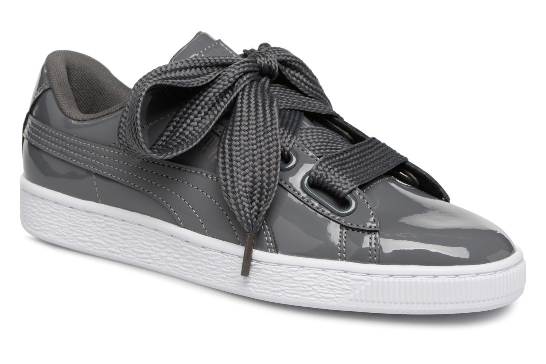 Nuevos zapatos para hombres y mujeres, descuento por tiempo limitado Puma Basket Heart Patent Wn's (Gris) - Deportivas en Más cómodo