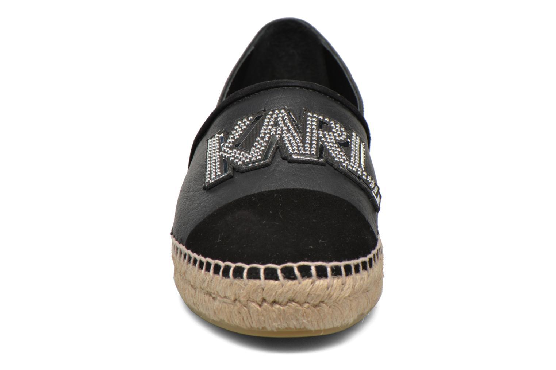 Espadrilles Karl Lagerfeld Rocky Espadrille Noir vue portées chaussures