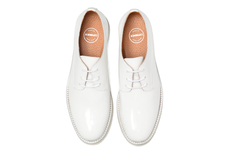 Chaussures à lacets Made by SARENZA Vegas Lipstick #10 Blanc vue portées chaussures