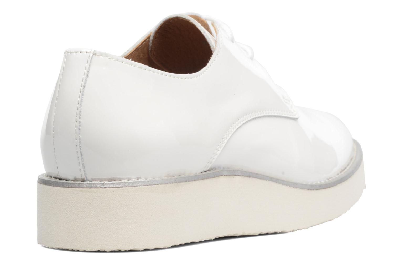 Chaussures à lacets Made by SARENZA Vegas Lipstick #10 Blanc vue face