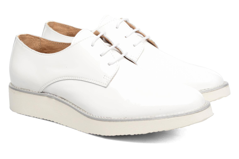 Chaussures à lacets Made by SARENZA Vegas Lipstick #10 Blanc vue derrière
