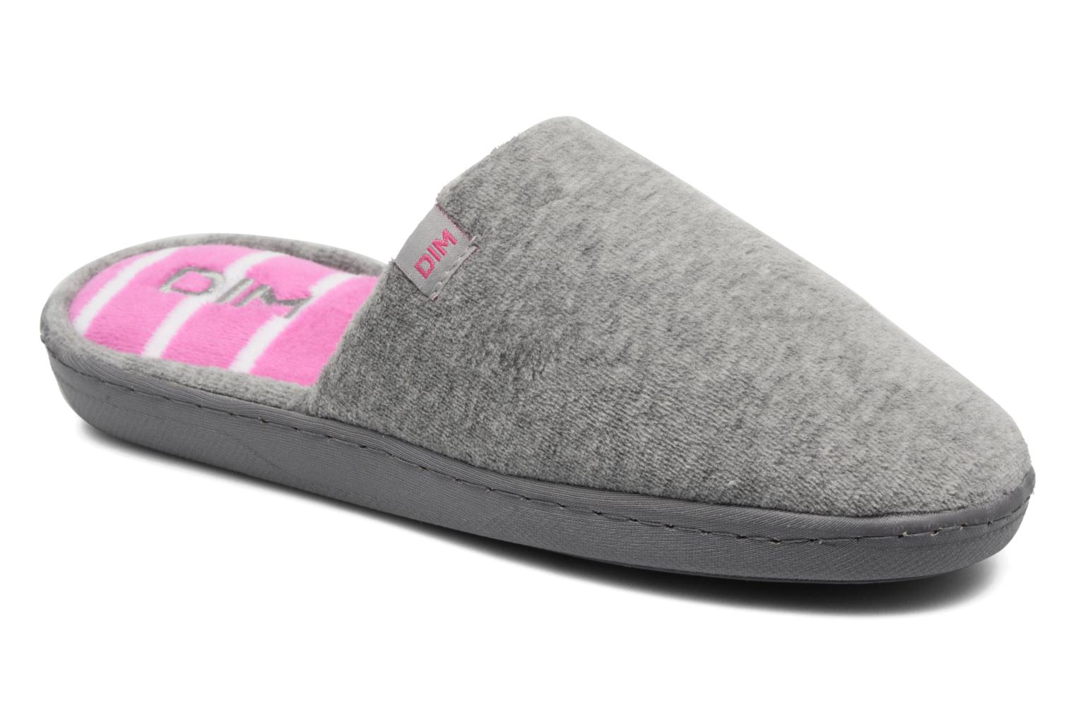Slippers Dim D Inola Grey detailed view/ Pair view
