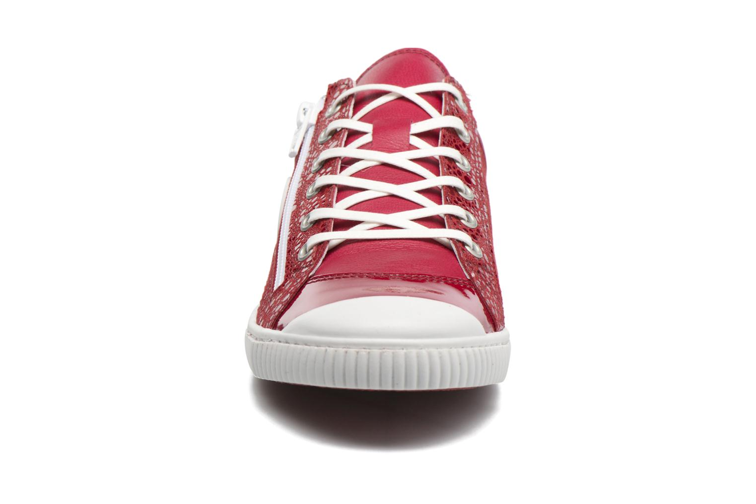 Baskets Pataugas Bisk/BB Rouge vue portées chaussures