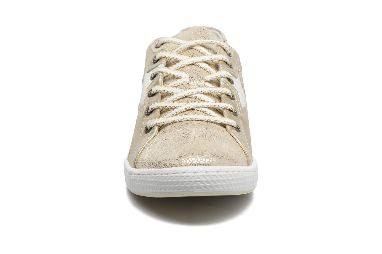 Baskets Pataugas JoiaS Or et bronze vue portées chaussures