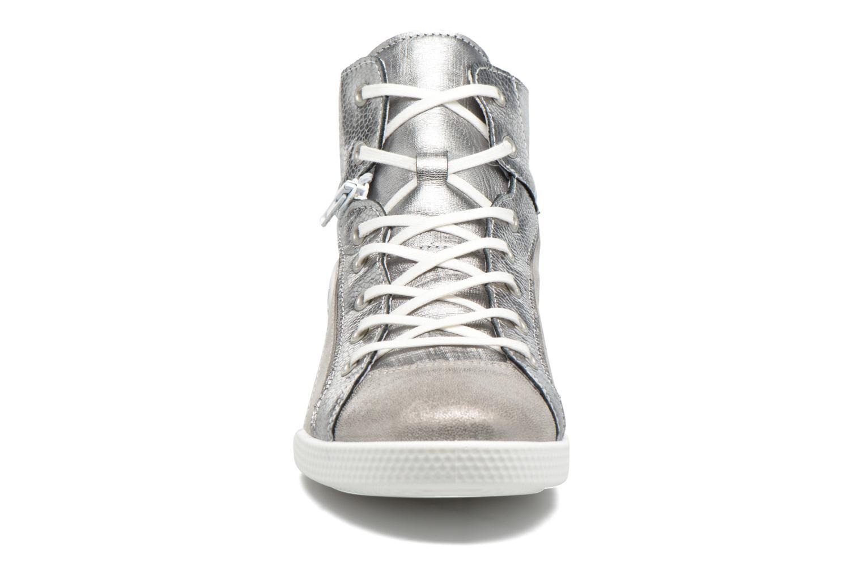 Baskets Pataugas Paz/M Argent vue portées chaussures