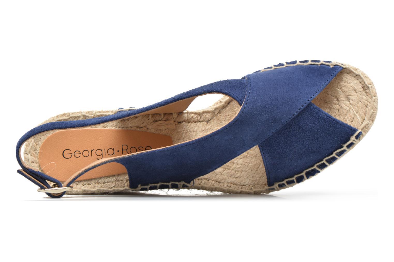 Alpargatas Georgia Rose Dacroi Azul vista lateral izquierda