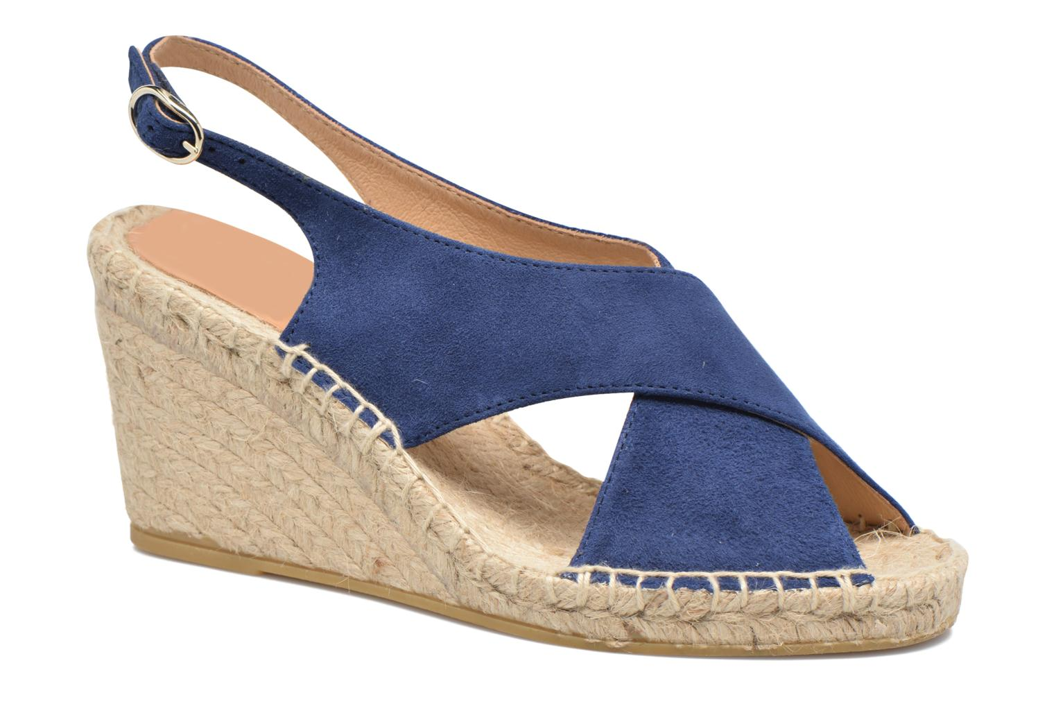 Espadrilles Georgia Rose Dacroi Blue detailed view/ Pair view