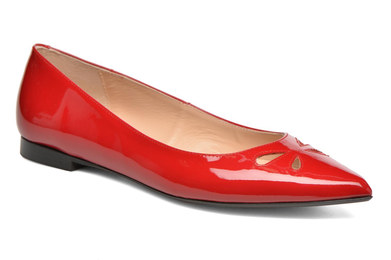 Bailarinas Made by SARENZA Vegas Lipstick #5 Rojo vista lateral derecha