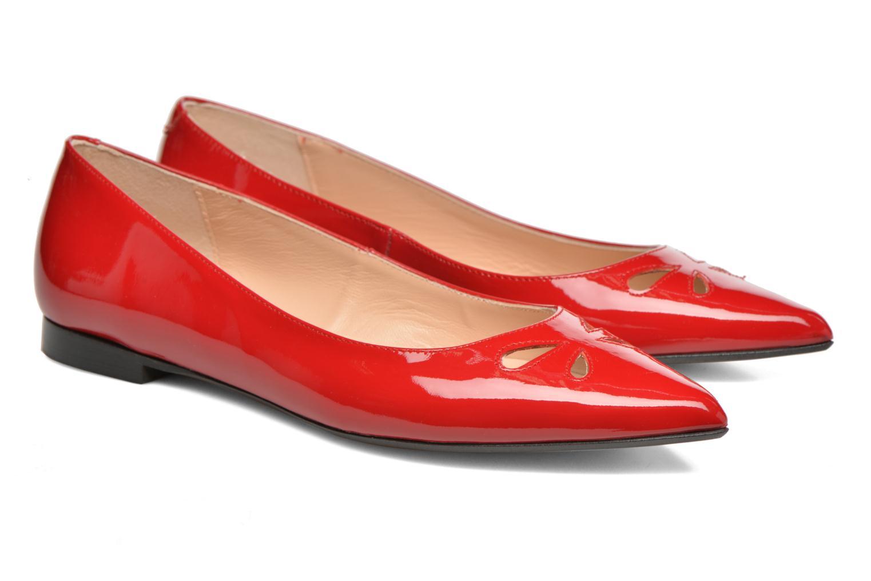 Bailarinas Made by SARENZA Vegas Lipstick #5 Rojo vistra trasera