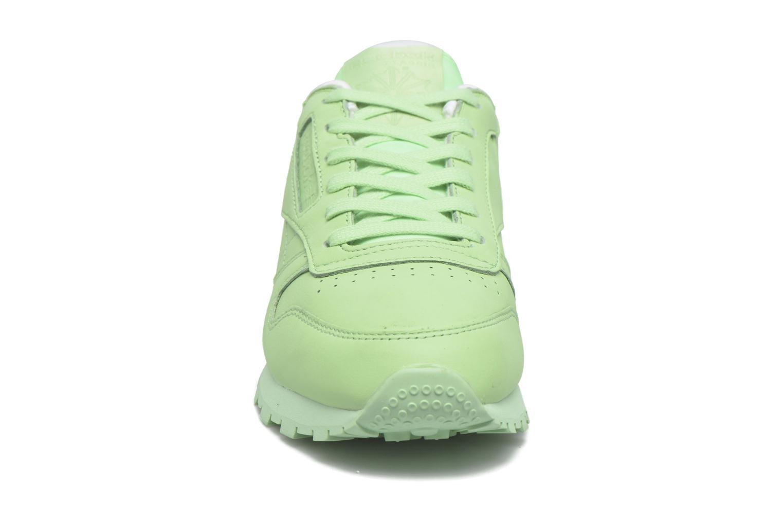 Baskets Reebok Cl Lthr Pastels Vert vue portées chaussures