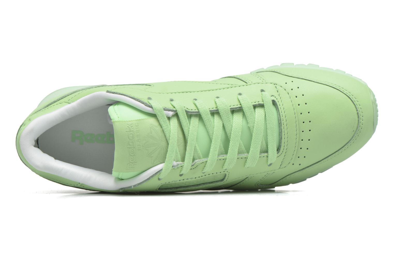 Baskets Reebok Cl Lthr Pastels Vert vue gauche
