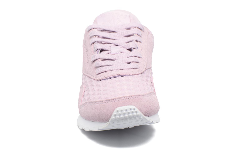Baskets Reebok Cl Nylon Slim Architect Rose vue portées chaussures