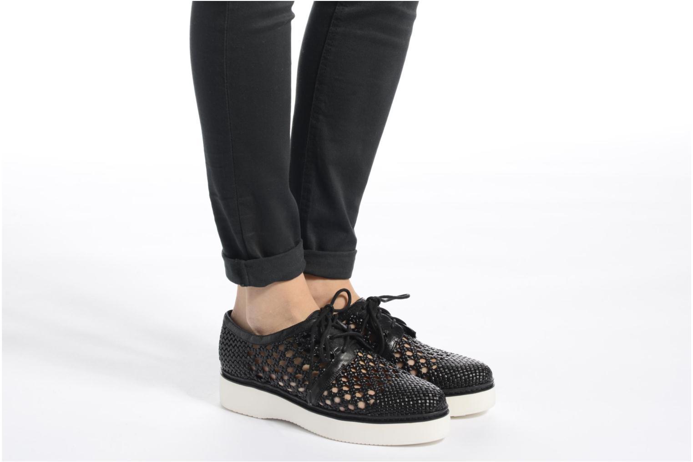 Chaussures à lacets What For Pansy Noir vue bas / vue portée sac