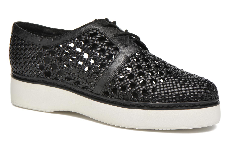 Chaussures à lacets What For Pansy Noir vue détail/paire