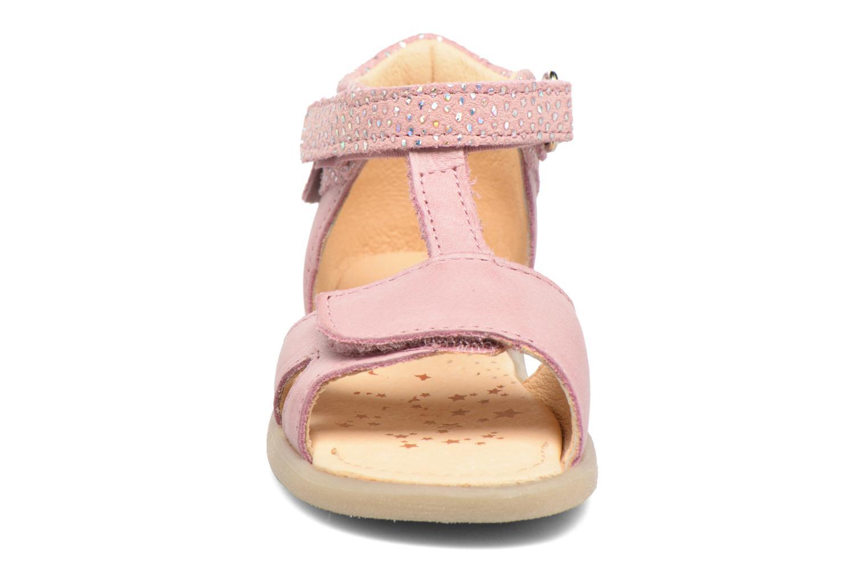 Sandales et nu-pieds Babybotte Tchipi Rose vue portées chaussures