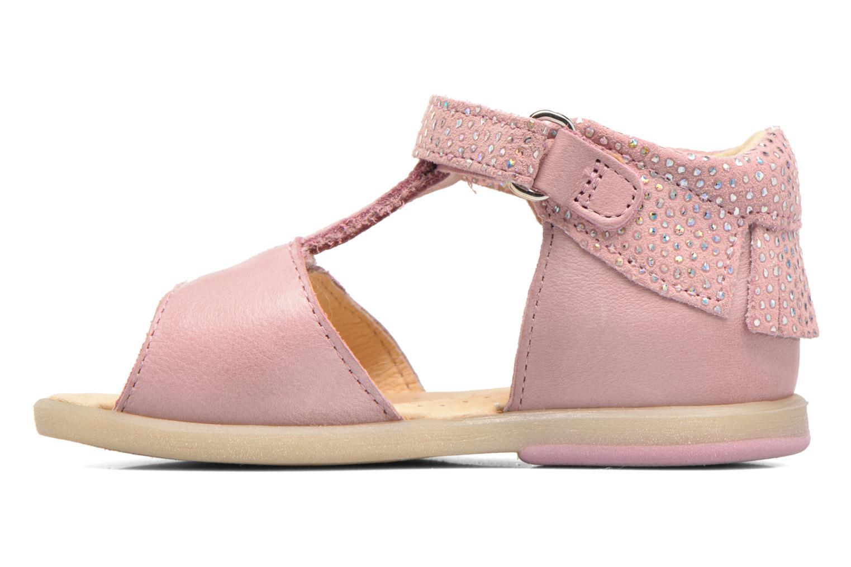 Sandales et nu-pieds Babybotte Tchipi Rose vue face