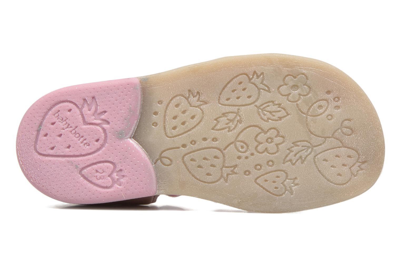 Sandales et nu-pieds Babybotte Tempete Rose vue haut