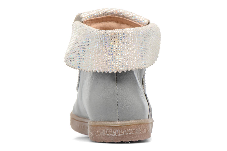 Chaussures à lacets Babybotte Artimiss Argent vue droite