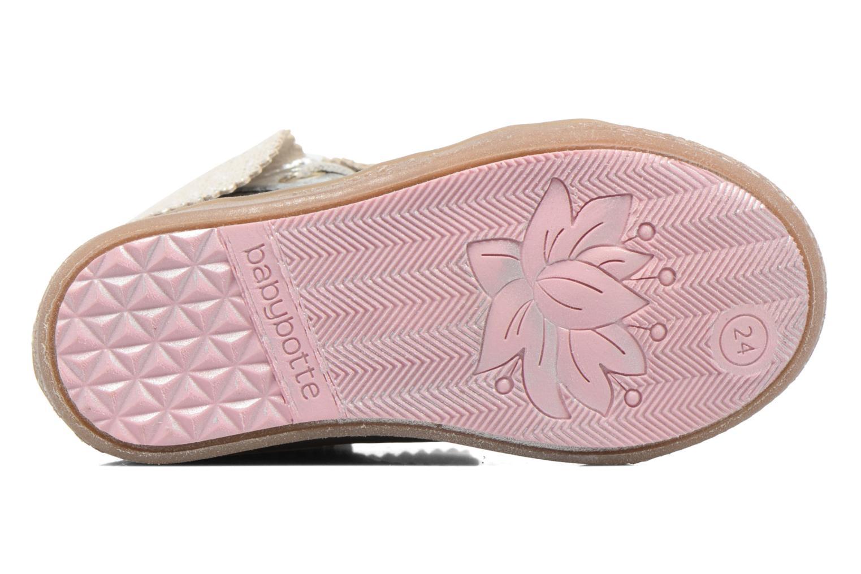 Chaussures à lacets Babybotte Artimiss Argent vue haut