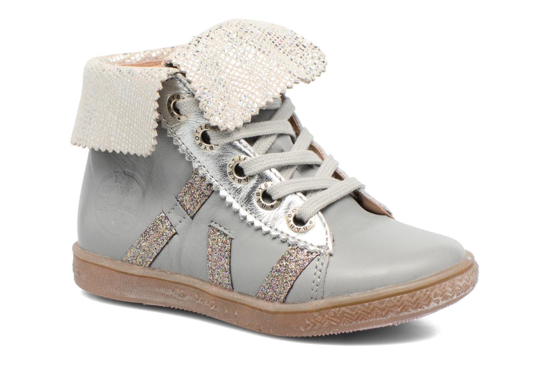 Chaussures à lacets Babybotte Artimiss Argent vue détail/paire