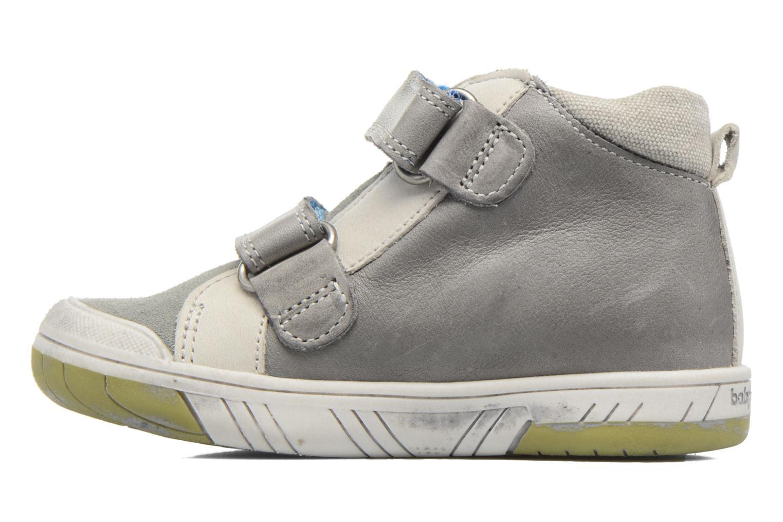 Chaussures à scratch Babybotte Artiboum Gris vue face