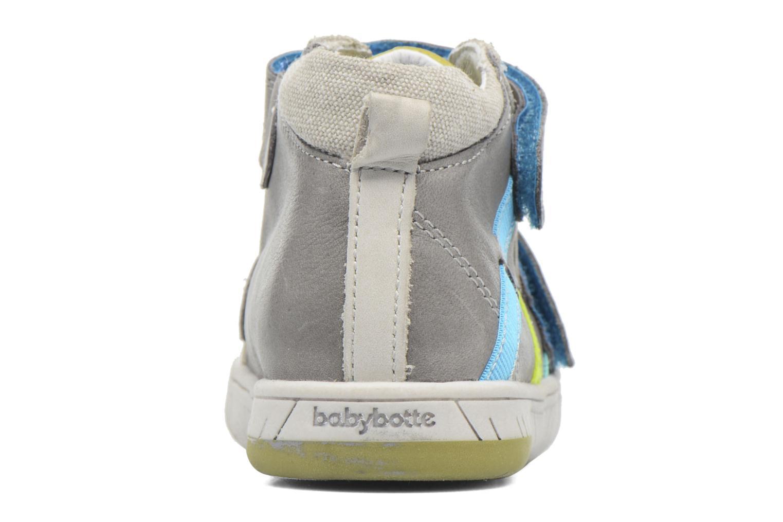 Chaussures à scratch Babybotte Artiboum Gris vue droite