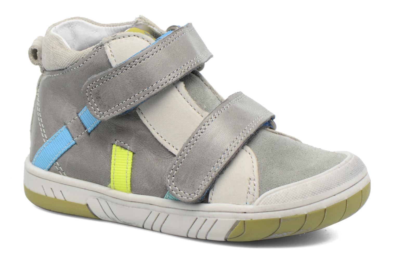 Chaussures à scratch Babybotte Artiboum Gris vue détail/paire