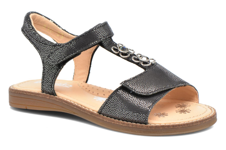 Sandales et nu-pieds Babybotte Klarinette Noir vue détail/paire
