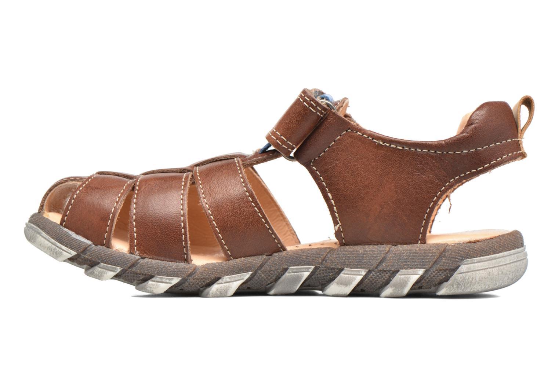 Sandales et nu-pieds Babybotte King Marron vue face