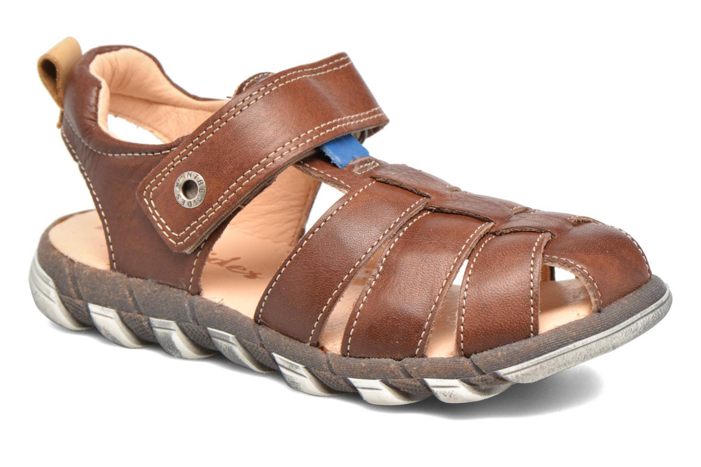 Sandales et nu-pieds Babybotte King Marron vue détail/paire