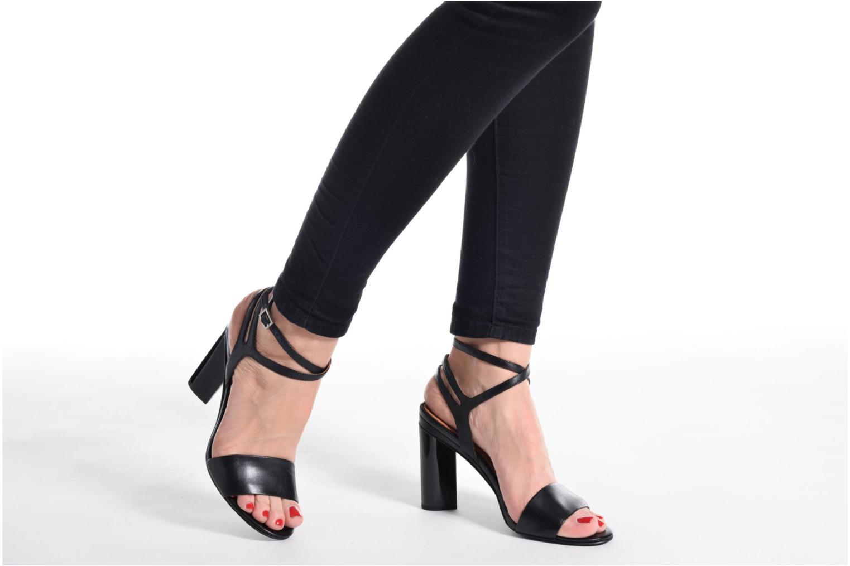 Sandales et nu-pieds What For Maïa Noir vue bas / vue portée sac