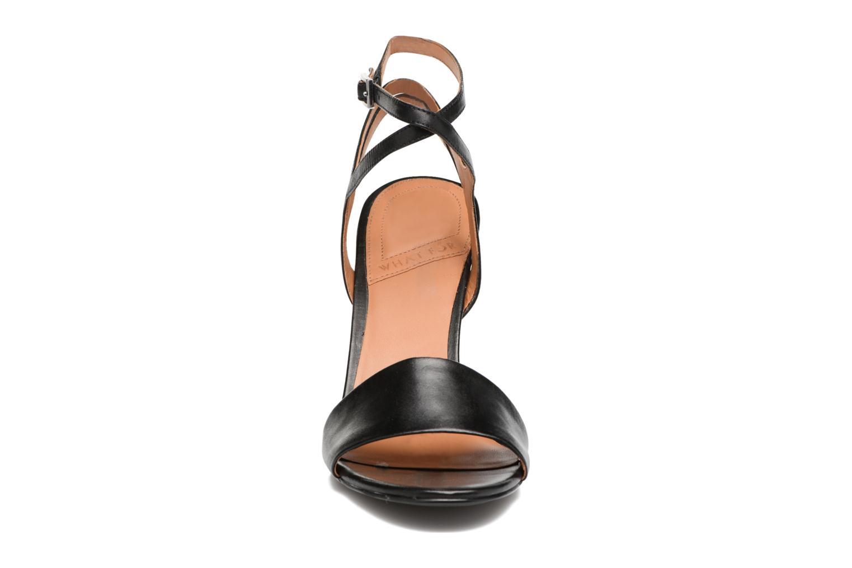 Sandales et nu-pieds What For Maïa Noir vue portées chaussures