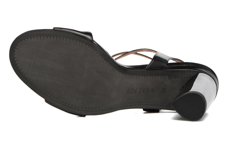 Sandales et nu-pieds What For Maïa Noir vue haut