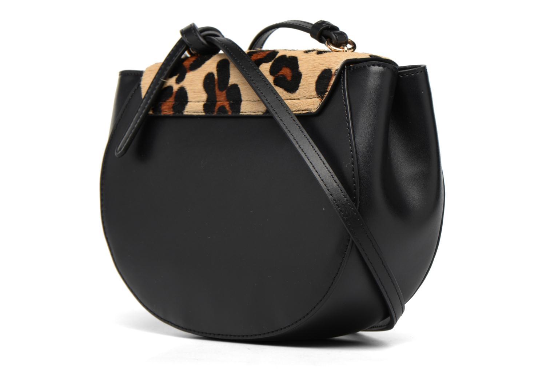 MAELLE Leather Crossbody flap Black