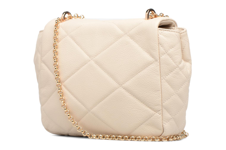 Sacs à main Guess LOU Leather Crossbody flap Blanc vue droite