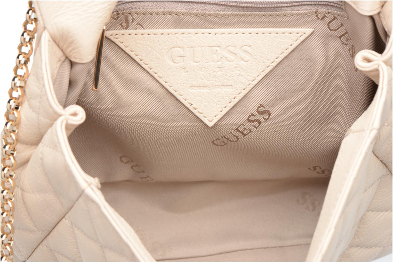 Sacs à main Guess LOU Leather Crossbody flap Blanc vue derrière