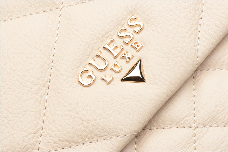 Sacs à main Guess LOU Leather Crossbody flap Blanc vue gauche