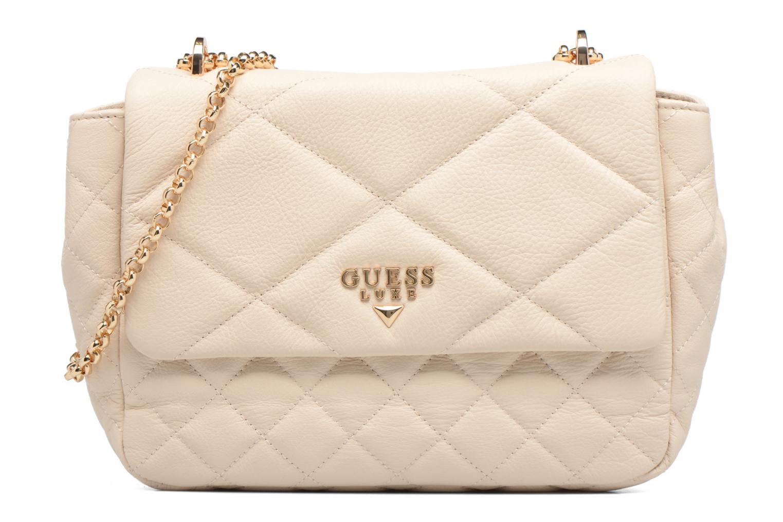 Sacs à main Guess LOU Leather Crossbody flap Blanc vue détail/paire
