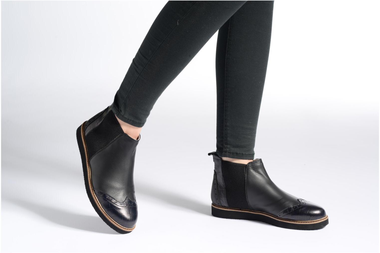 Bottines et boots Ippon Vintage Hunter Croco Noir vue bas / vue portée sac