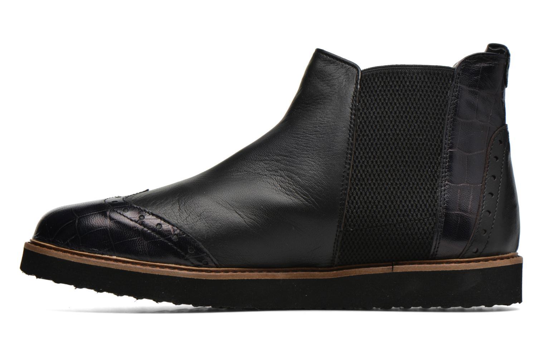 Bottines et boots Ippon Vintage Hunter Croco Noir vue face